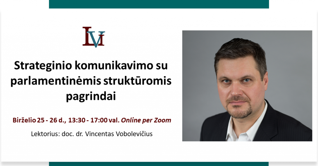 """Mokymai """"Strateginio komunikavimo su parlamentinėmis struktūromis pagrindai""""."""