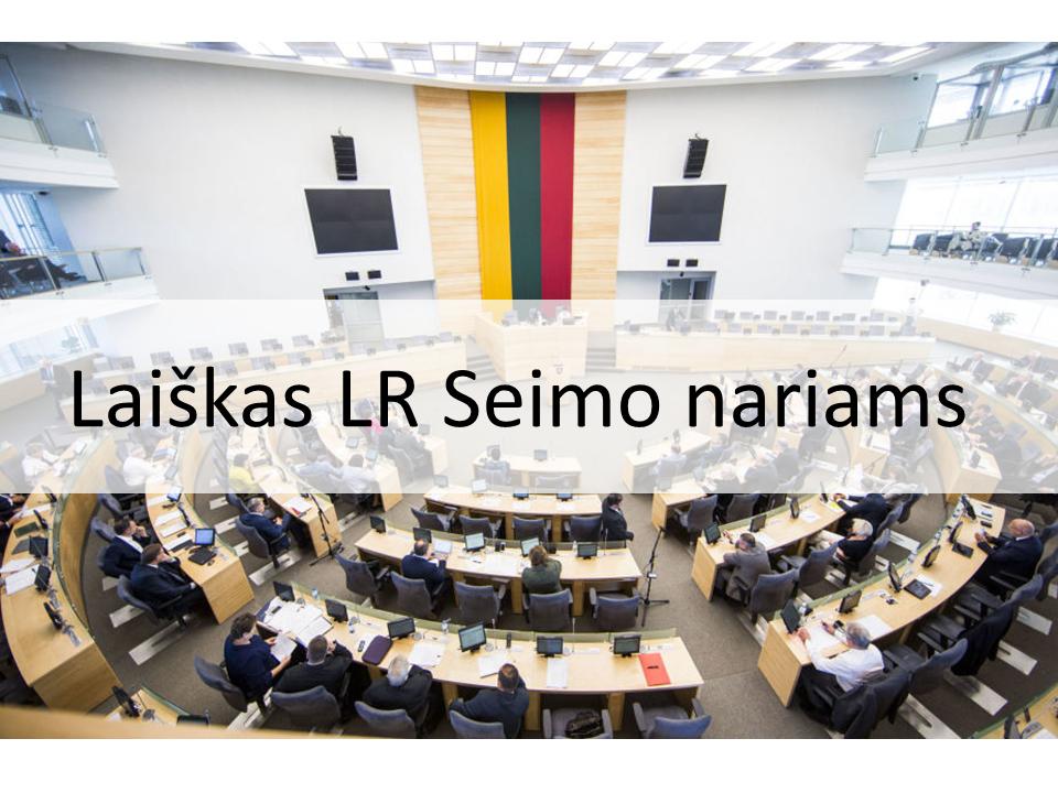 Kreipimasis į LR Seimo narius dėl rezoliucijos, raginančios pasmerkti moterų teisių ribojimą Lenkijoje