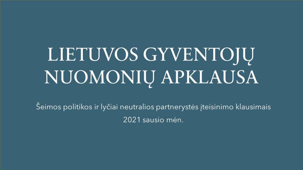 Lietuvos gyventojų nuomonių apklausa